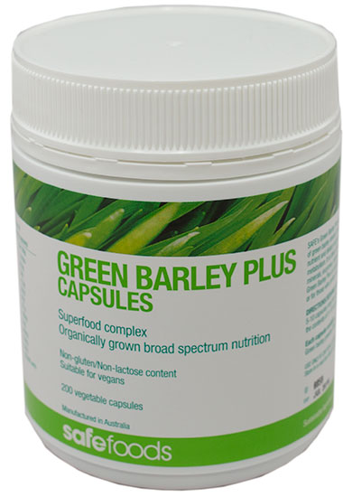 Green barley capsule dosage