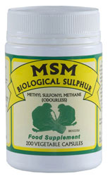 MSM Biological Sulphur 200 Vege Capsules