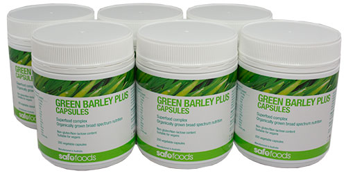 Green Barley Plus 200 Vege Capsules (6 Pack)