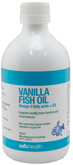 Vanilla fish oil 500ml digestive aids nervous system for Fish oil inflammation